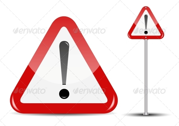 Vector Blank Traffic Sign Isolated on White - Web Technology
