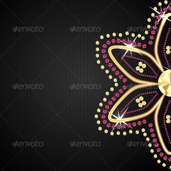 Abstract Black Diamond Vector  - Backgrounds Decorative