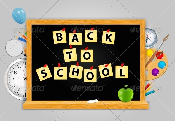 Back to School Vector Background - Concepts Business