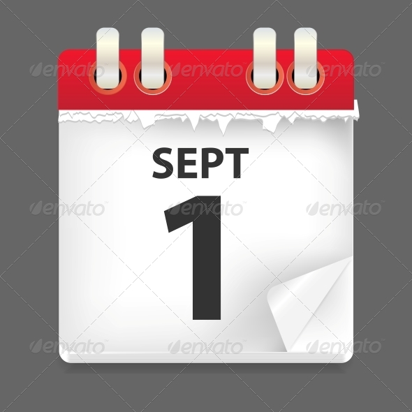 1 September Date Vector Illustration - Seasons Nature