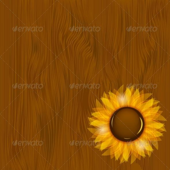 Sunflowers Illustration Background - Backgrounds Decorative