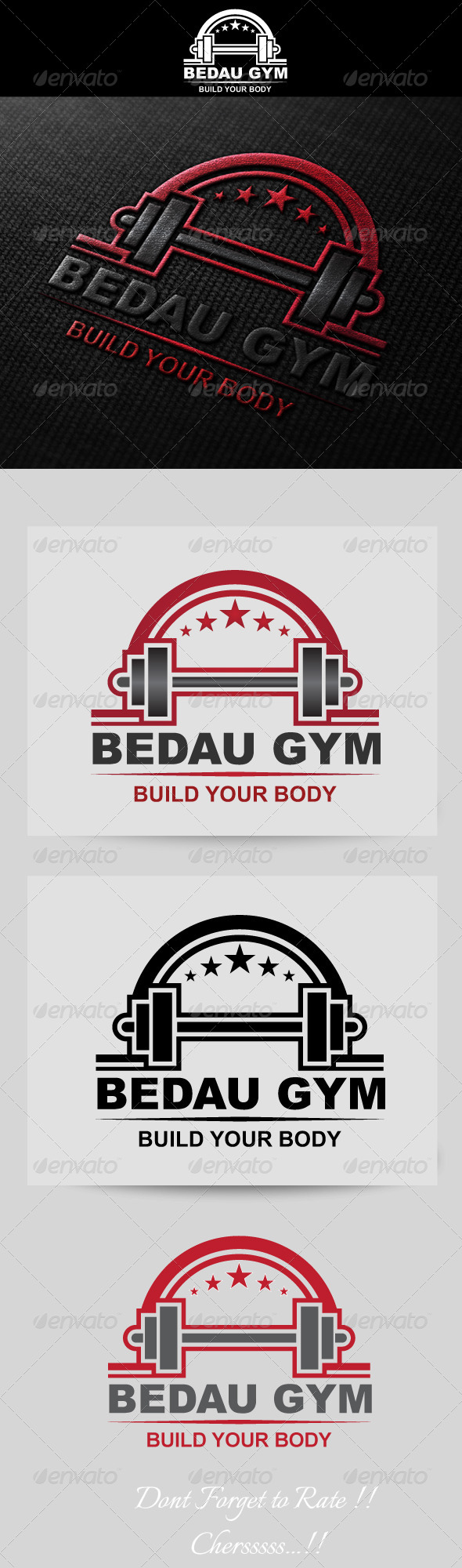 Fitness / Gym Logo Template - Crests Logo Templates