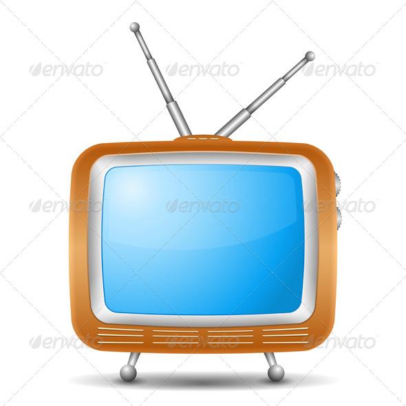 Retro TV Icon - Technology Conceptual