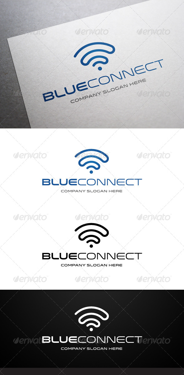 Blue Connect Logo - Objects Logo Templates