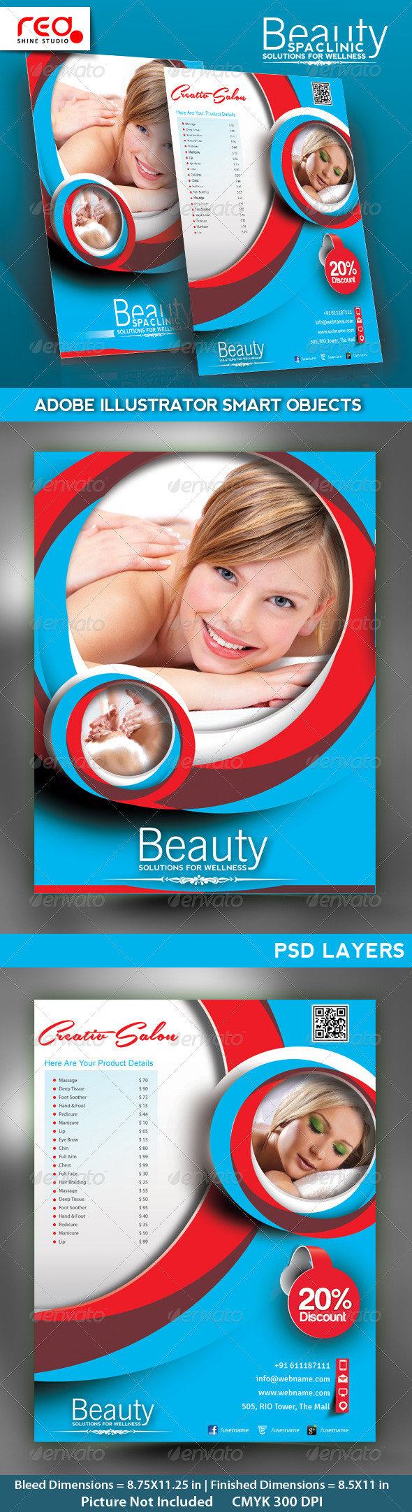 Salon Poster/flyer & Magzine Cover Template - Commerce Flyers