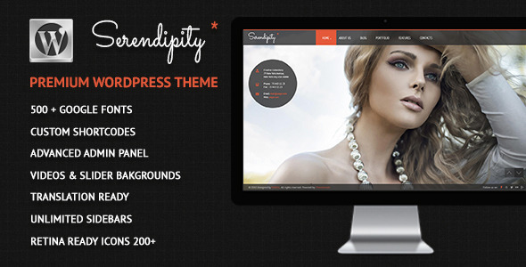 Serendipity – Fullscreen, Photography WP Theme