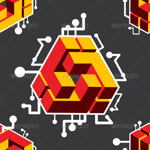 Cube Pattern by AleDeMarko | GraphicRiver