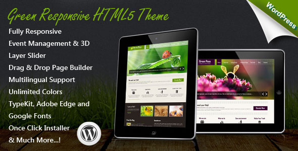 Image of Green Responsive WordPress Theme