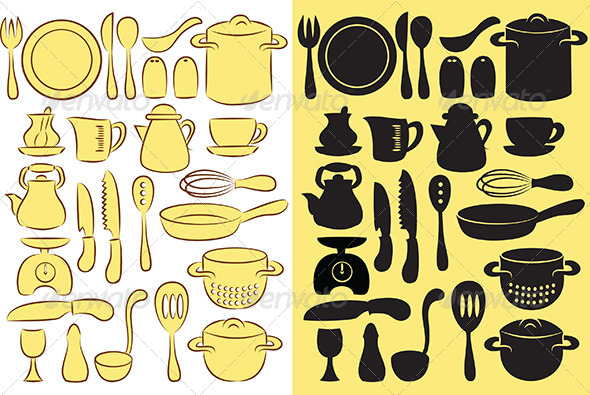 Cooking Utensils - Food Objects