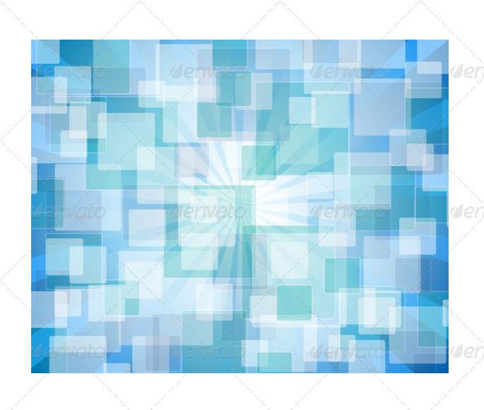 Blue Abstract Bokeh - Abstract Conceptual