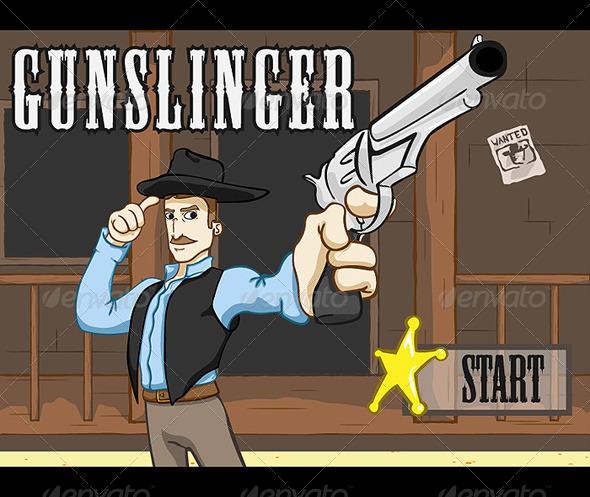 Gunslinger - Game Pack (BUNDLE) - Sprites Game Assets