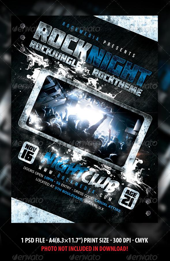 Rock Concert / Party / Festival Flyer / Poster - Concerts Events