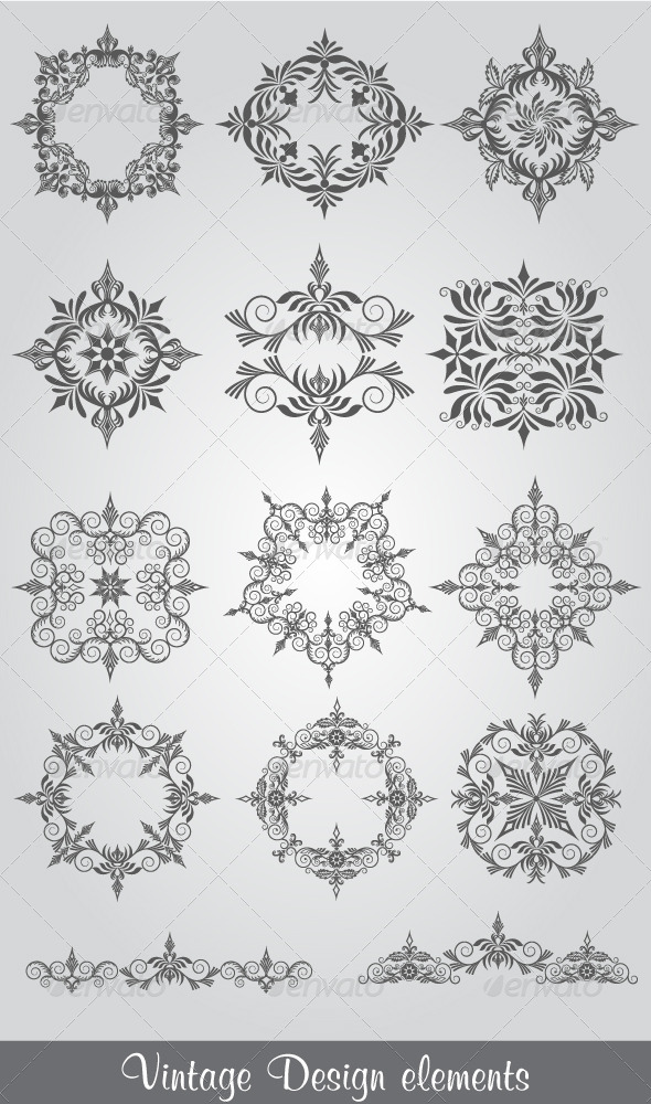 Vintage Design Elements - Decorative Vectors