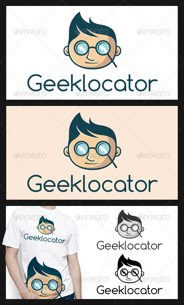 Geek Locator Logo Template - Humans Logo Templates