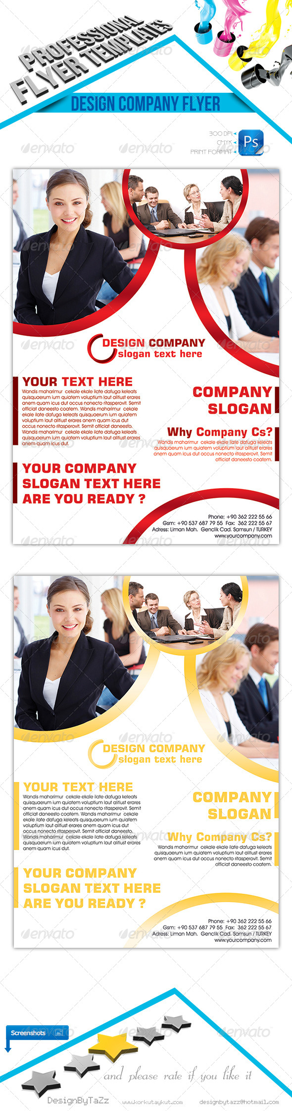 Design Company Flyer Template - Corporate Flyers
