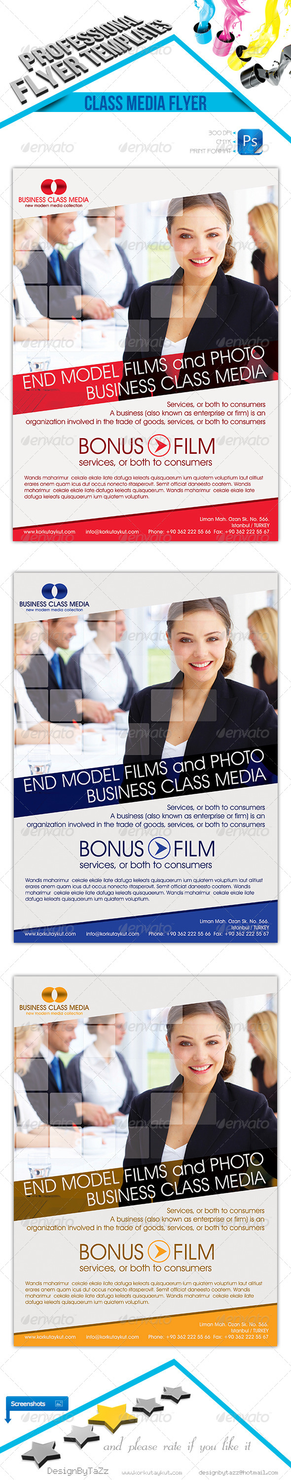 Business Class Media Flyer Template - Corporate Flyers