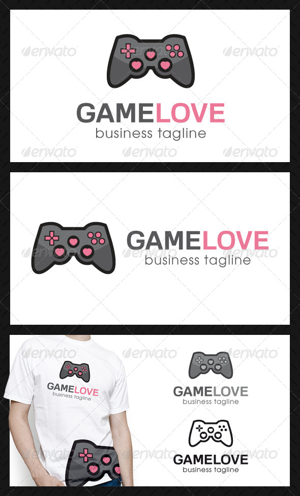 Game Love Logo Template - Symbols Logo Templates