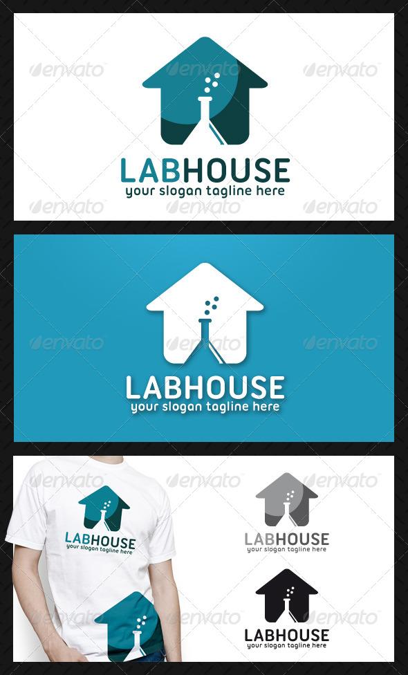 Lab House Logo Template - Buildings Logo Templates