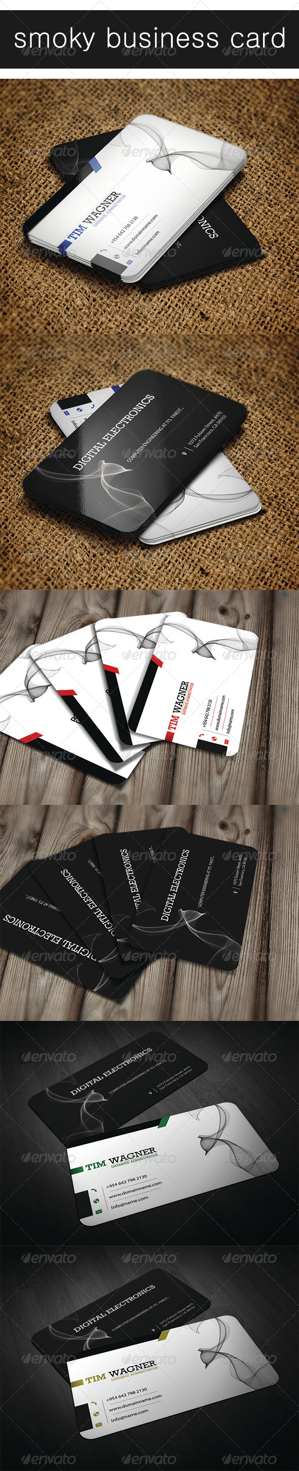 Smoky Business Card - Creative Business Cards