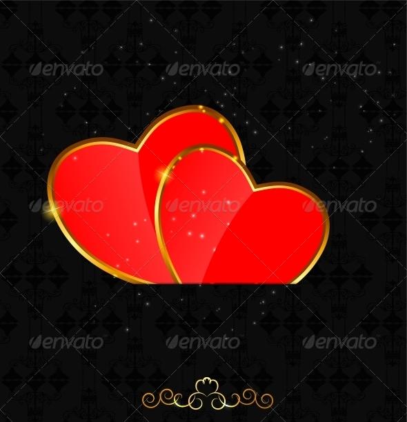 Valentines Day Heart Background  - Decorative Symbols Decorative
