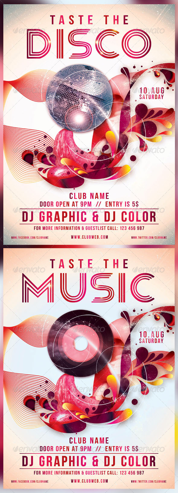 Taste The Disco/Music - Events Flyers