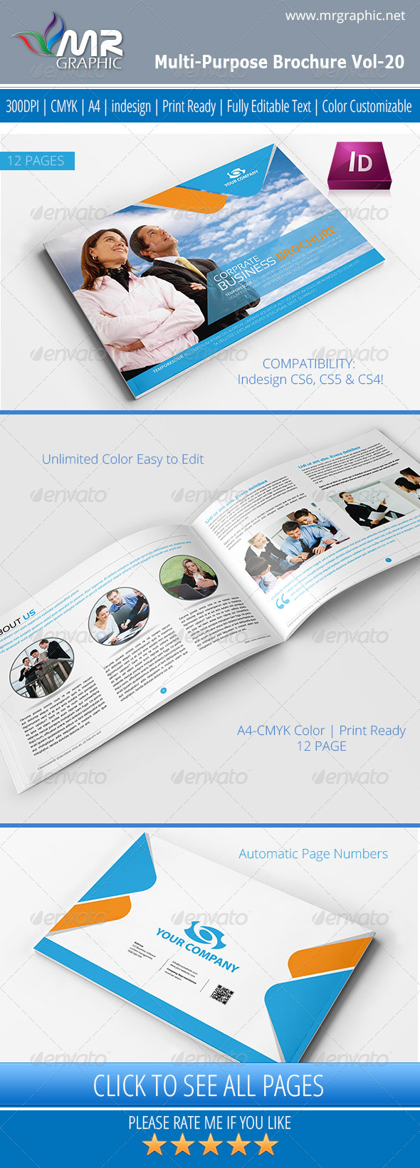 Multipurpose Business Brochure Template Vol-20 - Corporate Brochures