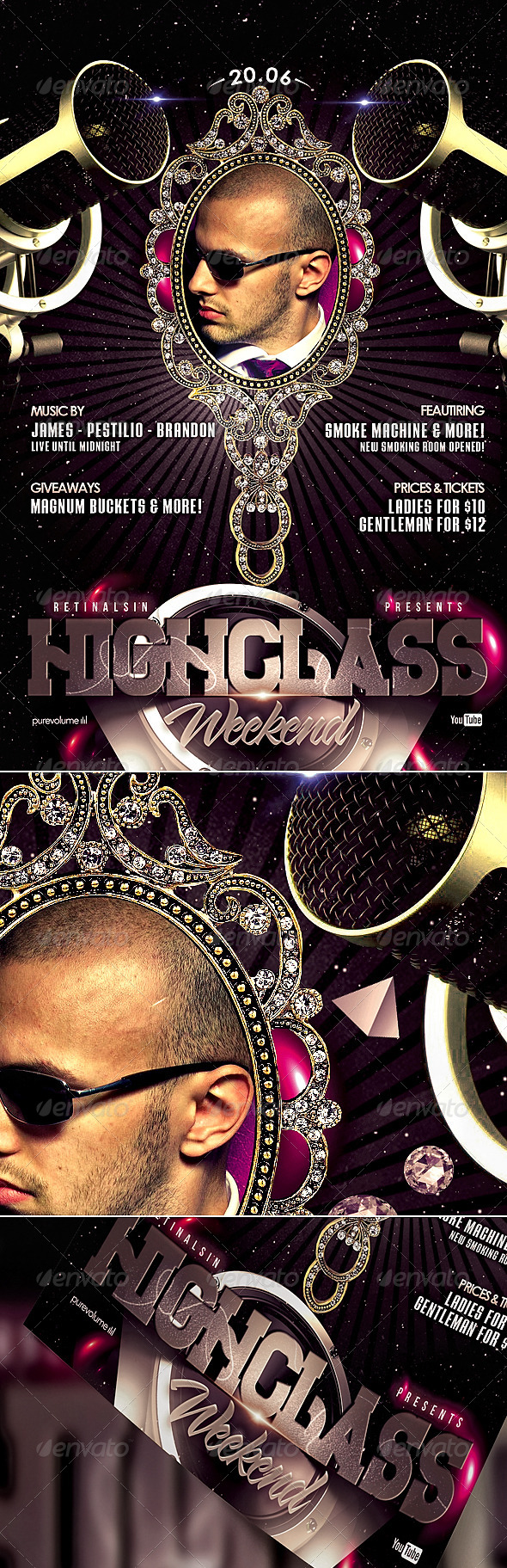 HighClass Weekend Flyer Template - Events Flyers