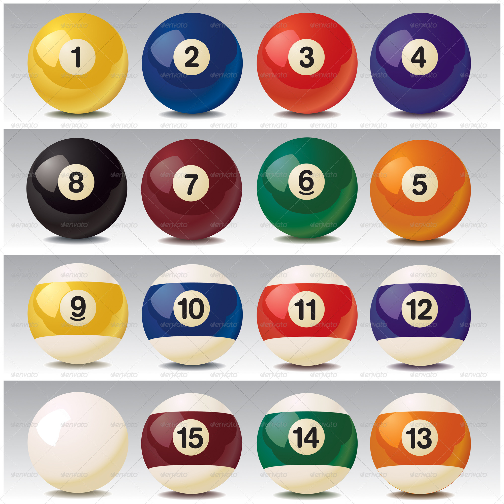 Realistic Vector Billiard Balls