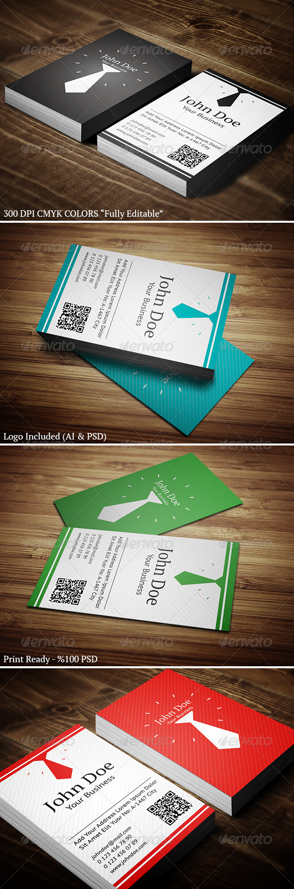 Vertical Business Card 01 - Business Cards Print Templates