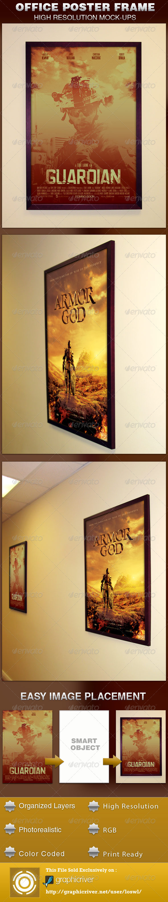 Office Frame Poster Mockup Template - Posters Print