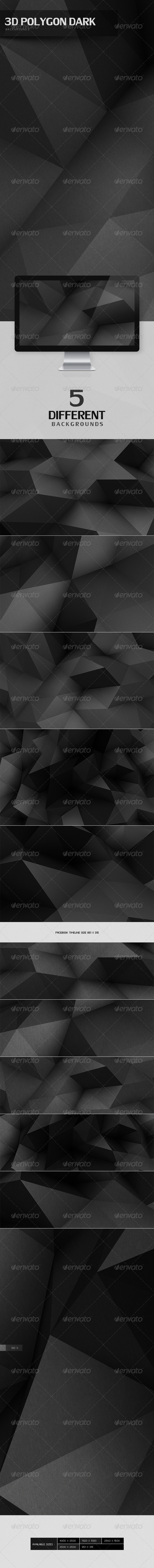 3D Polygon Dark Backgrounds - 3D Backgrounds