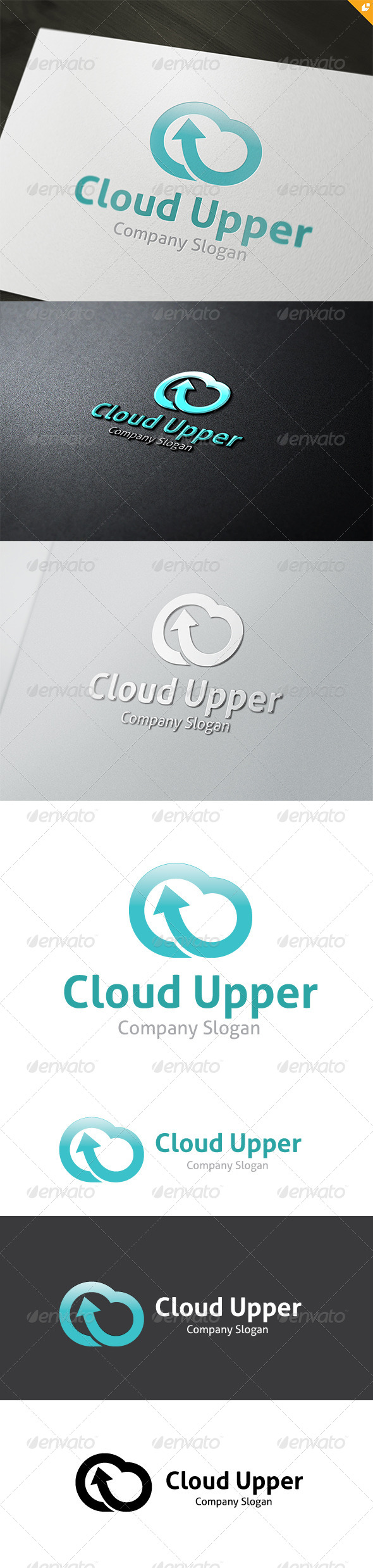 Cloud Upper Logo - Nature Logo Templates