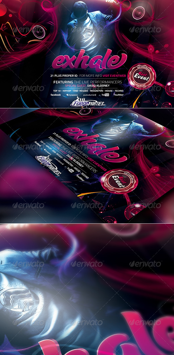 Exhale Flyer Template - Events Flyers