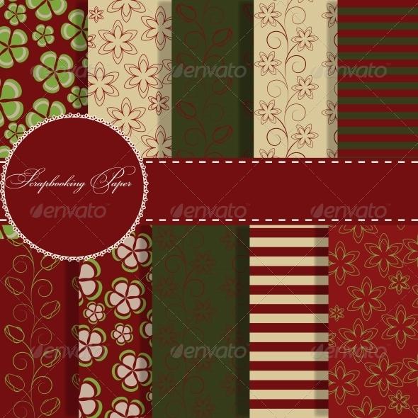 Set of Beautiful Vector Paper for Scrapbook - Birthdays Seasons/Holidays