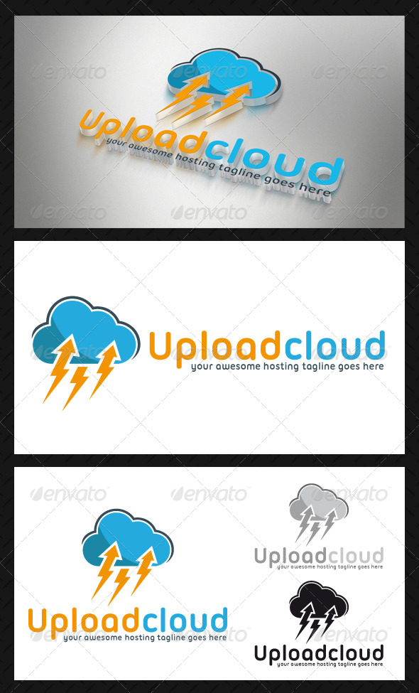 Upload Cloud Logo Template - Symbols Logo Templates