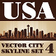 Vector City Skyline USA Set Number 4 - GraphicRiver Item for Sale
