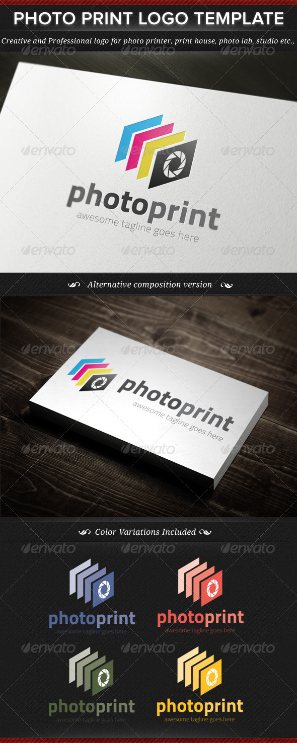 Photo Print Logo Template - Objects Logo Templates