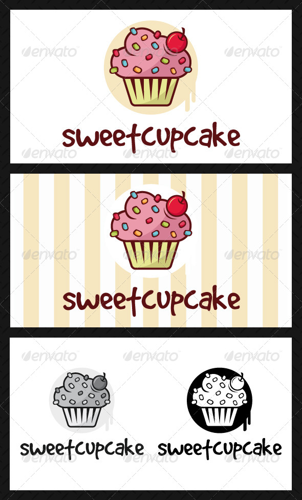 Cupcake Logo Template - Food Logo Templates