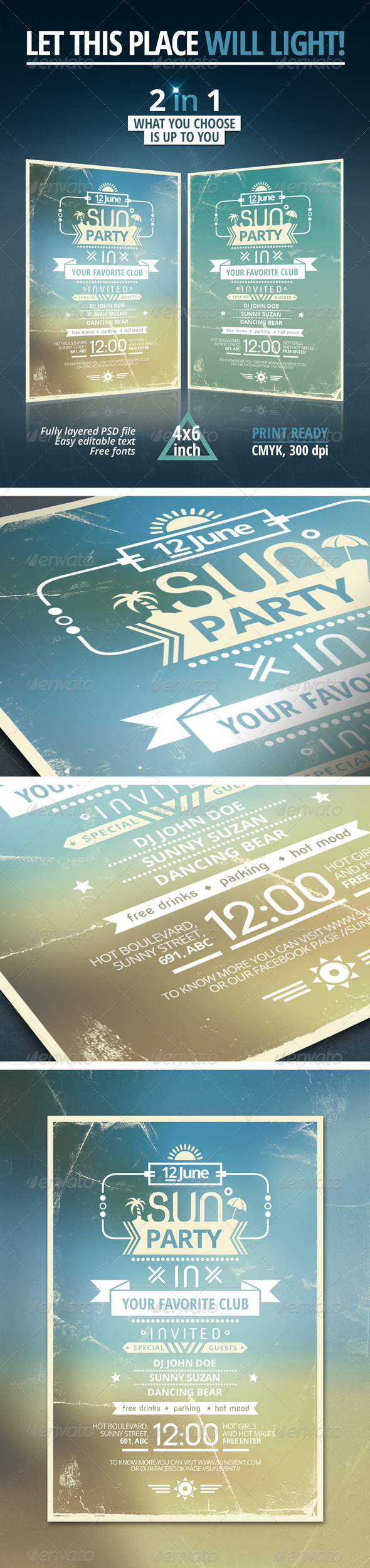 Sun Party Flyer - Clubs & Parties Events