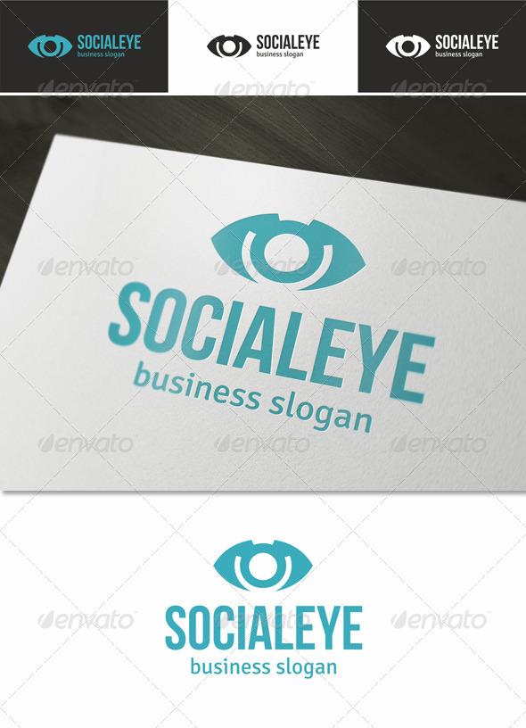 Social Eye Logo - Symbols Logo Templates