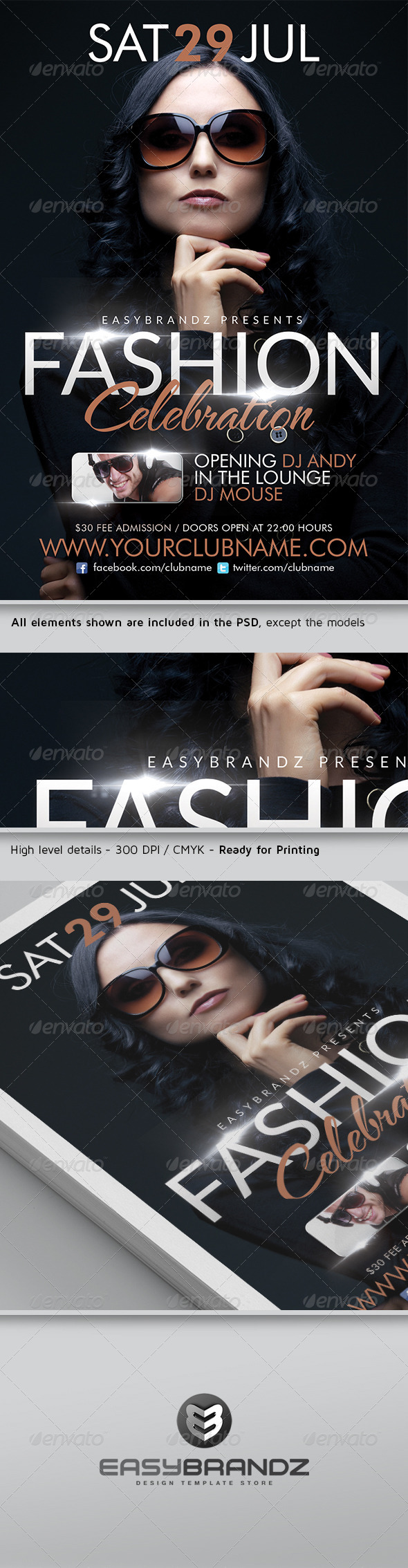 Fashion Celebration Flyer Template - Events Flyers