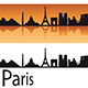 Paris Skyline in Orange Background - GraphicRiver Item for Sale