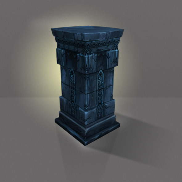Stone Pillar Low Poly - 3DOcean Item for Sale