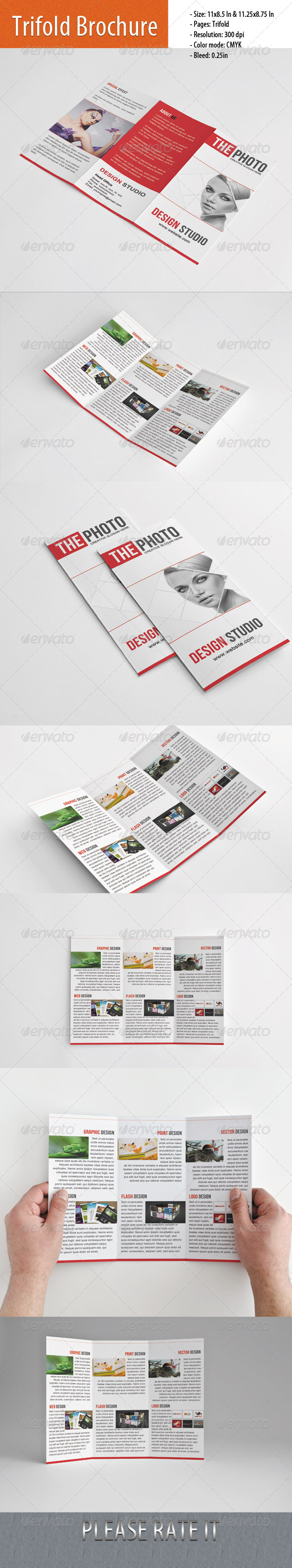 Trifold Brochure for Studio - Brochures Print Templates