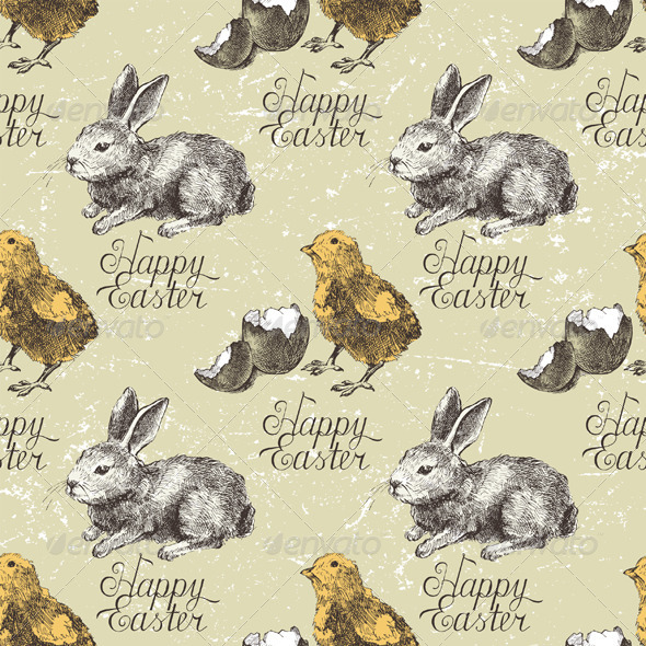 Easter Seamless - Patterns Decorative