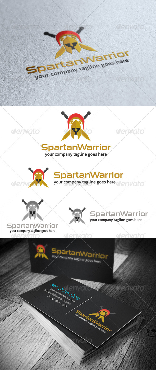 Spartan Warrior Logo - Objects Logo Templates