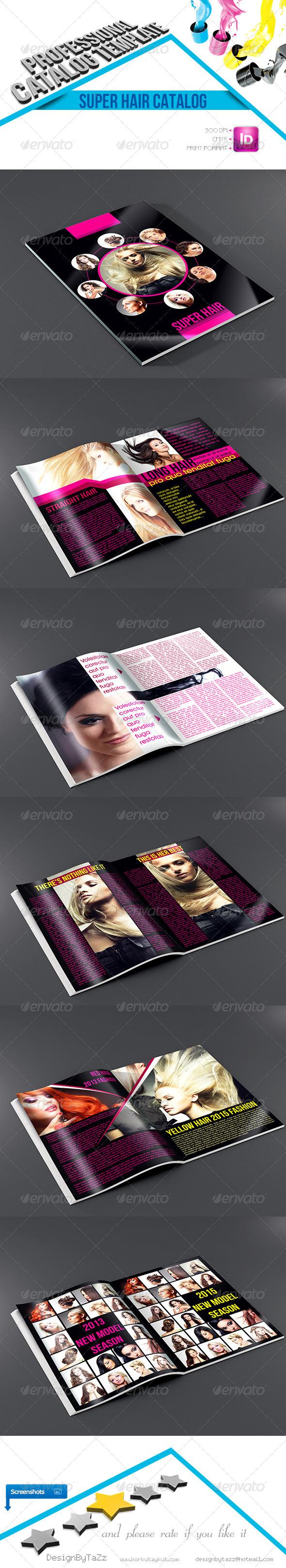 Super Hair Catalog Template - Brochures Print Templates