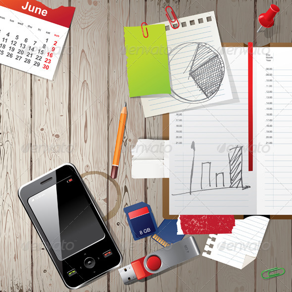 Work Place - Backgrounds Business