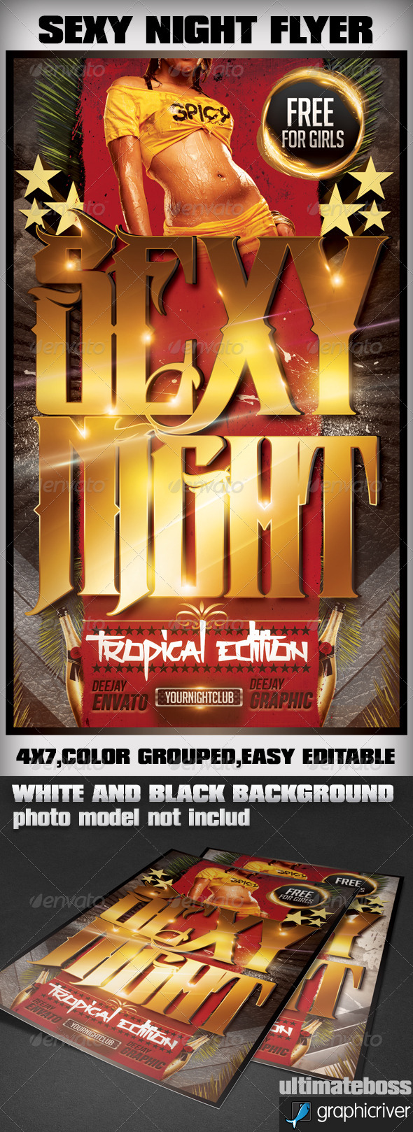 Sexy Night Tropical Edition - Events Flyers