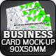90x55mm Business Card Mock-Up - GraphicRiver Item for Sale